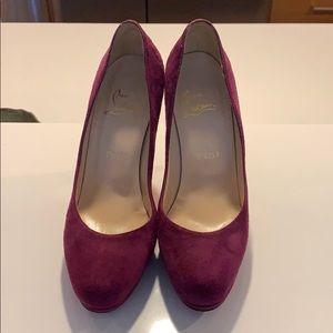 Purple suede Louboutin